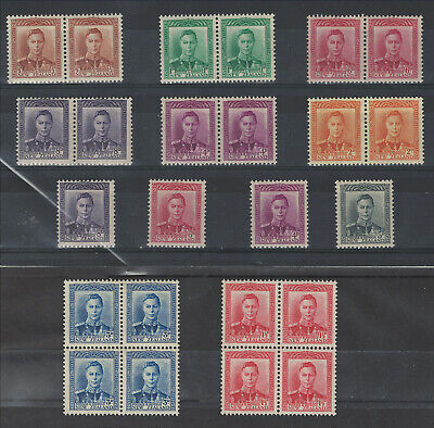 New Zealand - GVI 1938-47 Issues Mint - All Never Hinged