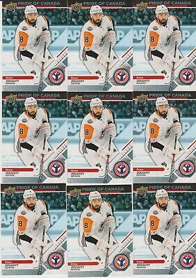 2019 2018-19 Upper Deck National Hockey Card Day LOT of 9 DREW DOUGHTY cards