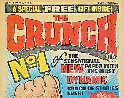 THE CRUNCH #1 - 20th JANUARY 1979 - ISSUE 1 !! VERY RARE !! VG+....hotspur dandy