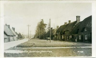 Real Photographic Postcard Of The Borough, Downton, (Near Salisbury), Wiltshire