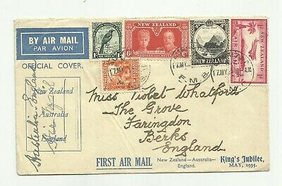 New Zealand 1935 cover superb franking