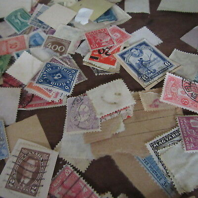 VINTAGE Postage stamp collection Lot Scrapbooking Collage art 2 Estates