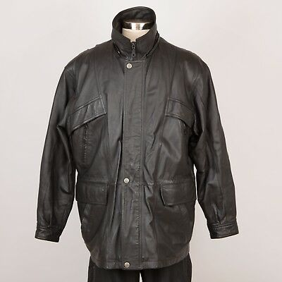 810ed222dbe61 Men's Leather Car Coat Jacket Size XL Removable Liner Insulated CHARLES  KLEIN