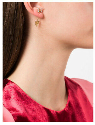 Arrow Earring Jacket With Diamond In 14k Rose Or Yellow