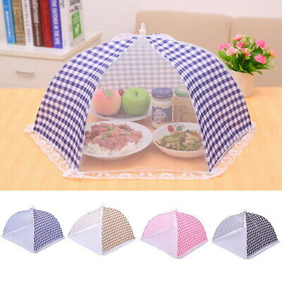 Kitchen Food Cover Tent Umbrella Outdoor Camp Cake Cover Mesh Net Mosquito DS