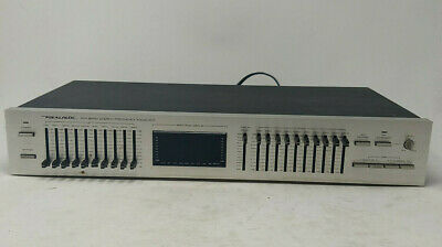 Vintage Realistic 31-2020 10 Band Stereo Frequency Equalizer w/ Spectrum Display
