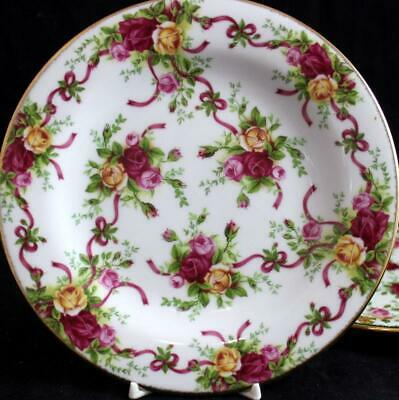 Royal Albert OLD COUNTRY ROSES Dessert Plate + Salad Plate A+ CONDITION