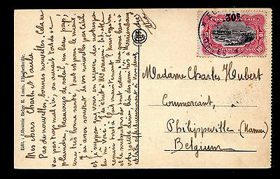 Belgian Congo Picture P/C of Lubumashi River Franked with Sc #77 - 7/3/1923