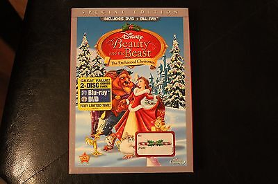 Beauty and the Beast: An Enchanted Christmas Blu-ray/DVD, 2011 slip cover NEW!