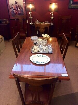 1930's Art Deco Dining Table - Original Top Glass