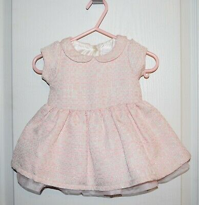 NWT 0-3m The Childrens Place Baby Girl Pink Ivory Sleeveless Easter Spring Dress