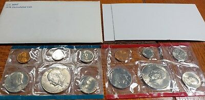 1978 Mint Set Uncirculated 12 U.S coin set with 2 Eisenhower Dollars Premium set