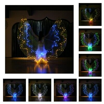 36 Color Change Adults Belly Dance LED Isis Wings Indian Club Light up Wings
