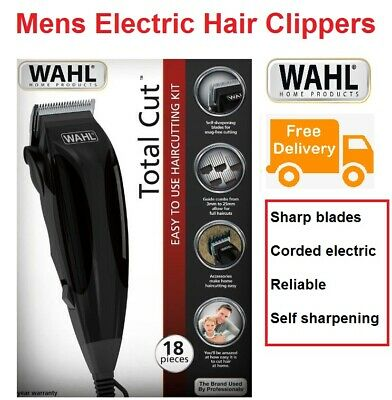 WAHL HAIR CLIPPERS Electric Mens 22 Piece Complete Haircut Grooming Kit NEW