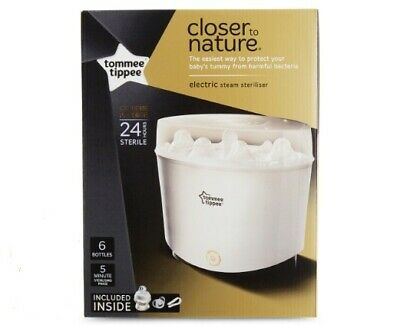 Tommee Tippee Closer to Nature Essentials Electric Steam Steriliser BPA Free