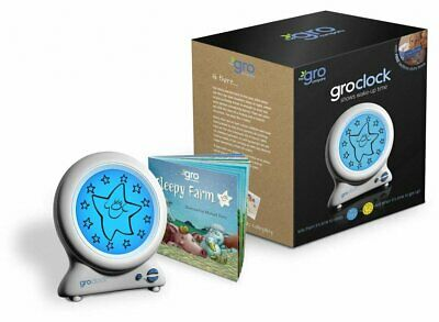 Gro Clock Baby Nursery Sleep Trainer Night Light with Bonus Bedtime Storybook
