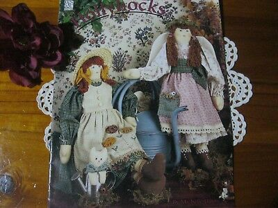 Beautiful Full Size Cloth Fabric Sewing HOLLYHOCKS Doll Pattern.Wonderful Cond.