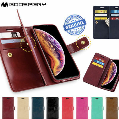 Mercury Goospery Leather Flip Wallet Card Cover For Samsung Galaxy S10+ S10 S10e