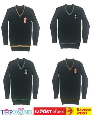 Harry potter Hogwarts House Vest Sweater School Cosplay Book Week Costume
