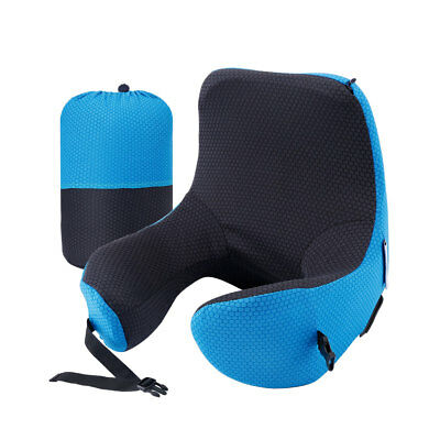 LANGRIA 6 in 1 Adjustable Memory Foam Travel Pillow Hood Neck Cushion Car Office