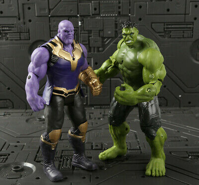 2Pcs Avengers Infinity War Titan Hero Series Thanos & Hulk Action Figure Toys 7""
