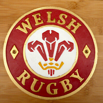 Welsh Ruby Plaque Wales 21 England 13 Cast Iron 24cm Rugby Union Grand Slam