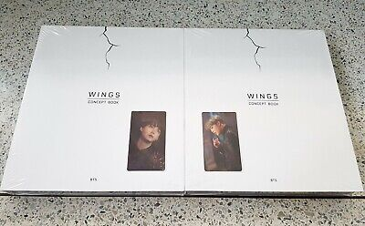 BTS Wings Concept Book New and Seal + Suga or Jimin Lenticular photo card +Gift
