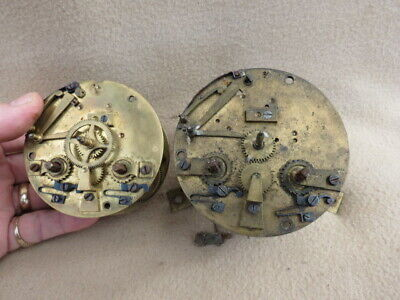 X2  Antique French Striking Clock Movements For Spares Repair Lot 3