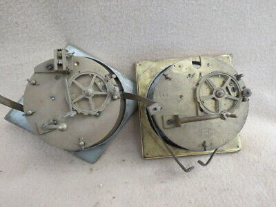 X2  Antique French Striking Clock Movements For Spares Repair Lot 5