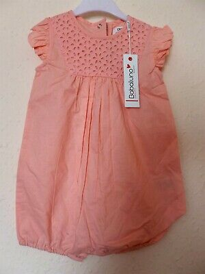 BABY GIRLS BABALUNO PINK COTTON  ROMPER 12-18 months nwt