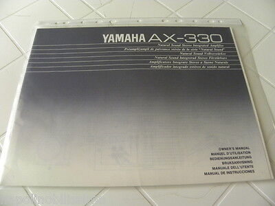 Yamaha AX-330 Owner's Manual  Operating Instructions  New