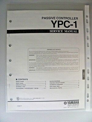 Yamaha YPC-1 Factory Original Service Manual for Passive Controller