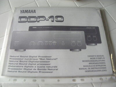 Yamaha DDP-10 Owner's Manual  Operating Instructions Istruzioni   New