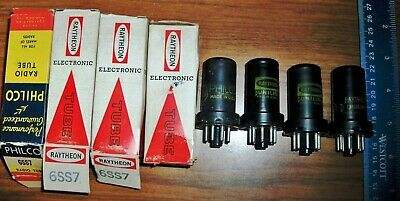4 Strong Assorted Black Metal 6SS7 Tubes