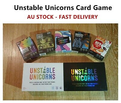 Unstable Unicorns Main Card & 5 Expansion Cards Party Card Game AU STOCK
