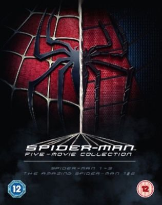 The Spider-Man Five Film Collection 1 2 3 Amazing 1 2 [Blu-ray Set, Region Free]