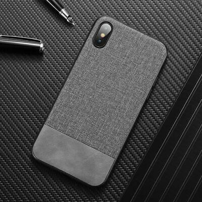 Luxury Canvas Fabric PU Leather Case Cover For iPhone XS Max XR X 8 7 6 Plus SE