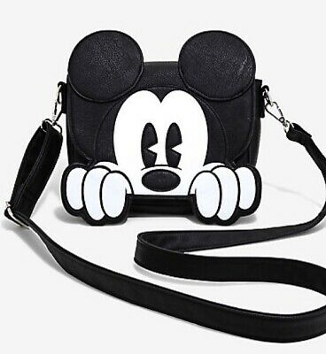 LOUNGEFLY - DISNEY MICKEY MOUSE Pose ~ All Over Print Purse Duffle ... 1086be05a5db1