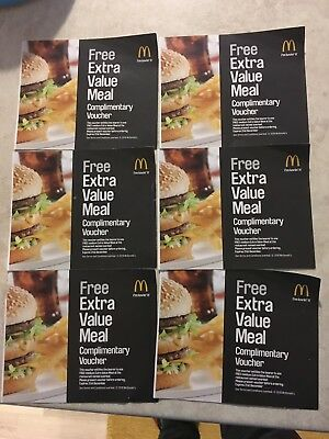 Mcdonalds Vouchers - YORK ONLY - 6 X Medium Extra Value Meals - see listing.