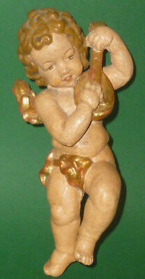 Old Carved Wood Putt Puttenfigur Cherub Angel Carved Wood Wooden Angel