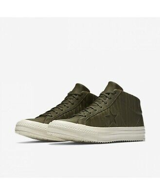 1cc88ec4ab1e Converse One Star Counter Climate Mid Olive Black White 158836C Men s Size  9.5