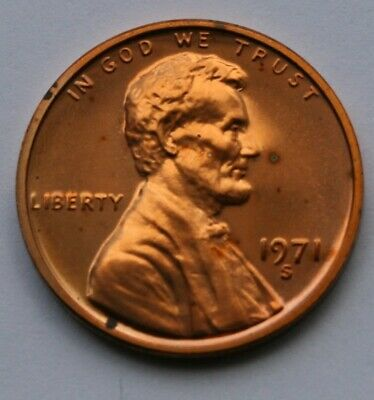 1971 S Lincoln Memorial Cent Proof Penny US Coin
