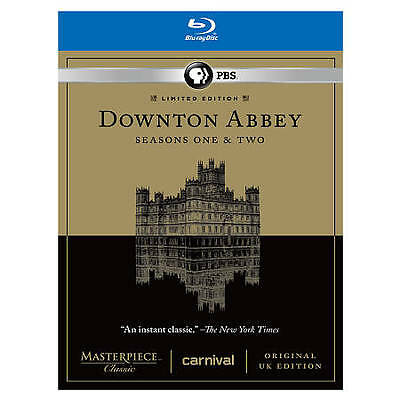 PBS Downton Abbey - Seasons One and Two (Blu-ray Disc, 2012, 5-Discs) Brand New!