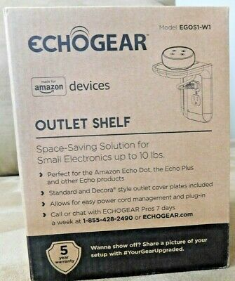 """Made for Amazon"" ECHOGEAR Outlet Shelf for Echo Dot & Plus, Echo products"