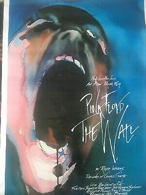 Pink Floyd The Wall Gerald Scarfe Artwork Rare Movie Version Promo Poster 1982