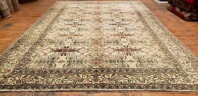 Lovely Cr1920-1939s Antique 7x10ft  Wool Pile Muted Dyes Legendary Hereke Rug