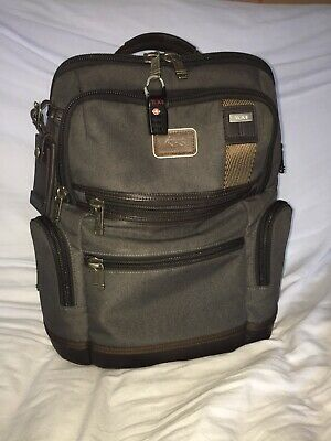 Tumi Alpha Bravo Knox Backpack Grey Ballistic Nylon And Cotton Blend Rare Color