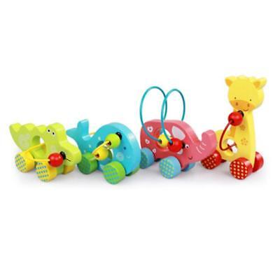 Wooden Bead Maze Roller Car Educational Activity Center Sorting Toys L