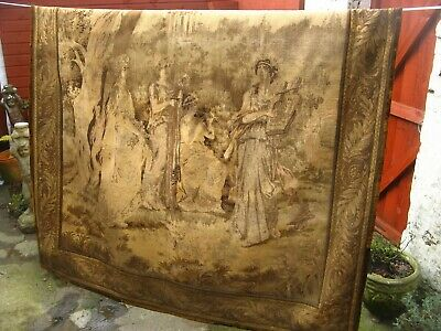 Antique Tapestry Wall Hanging Lionel Peraux prop