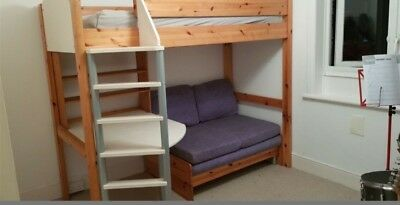 Excellent Stompa Casa High Sleeper With Sofa Bed Bunk Bed In Cream Camellatalisay Diy Chair Ideas Camellatalisaycom